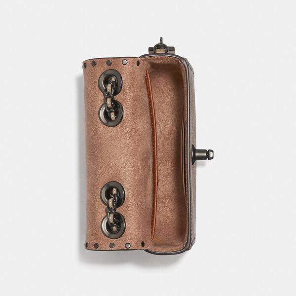 Madison Shoulder Bag 16 In Signature Canvas With Rivets, V5/TAN TAUPE MULTI, hi-res