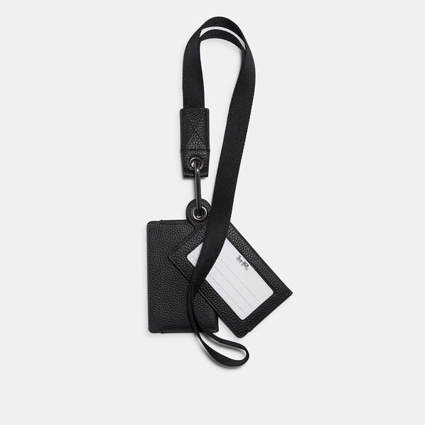 Multi Card Case Id Lanyard, QB/BLACK, hi-res