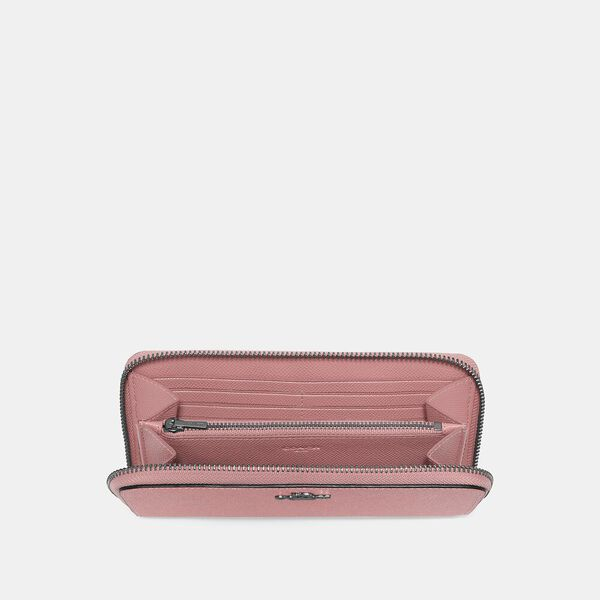 Accordion Zip Wallet, V5/VINTAGE PINK, hi-res