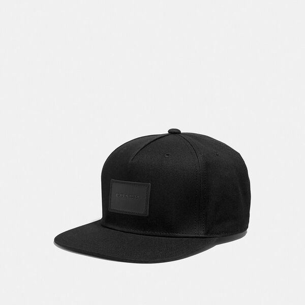 Flat Brim Hat, BLACK, hi-res