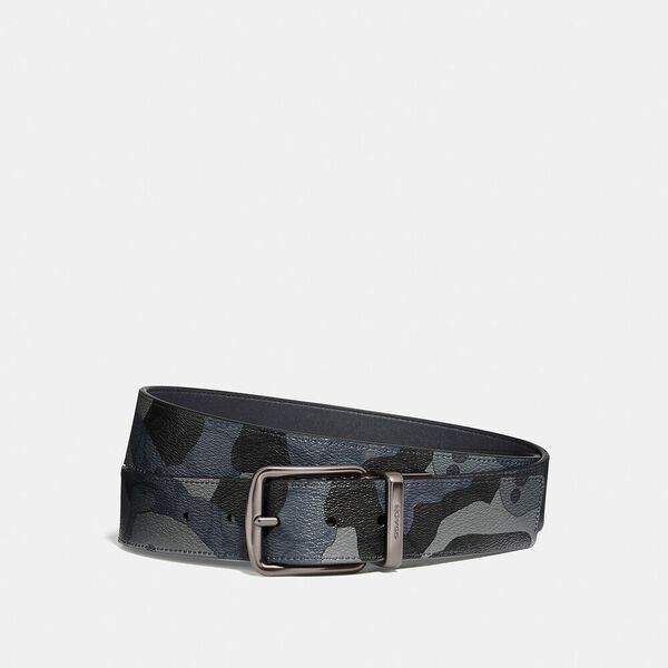 Roller Buckle Cut-To-Size Reversible Belt With Camo Print, 38mm