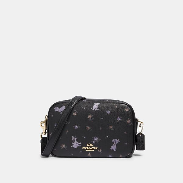 Disney X Coach Jes Crossbody With Dalmatian Floral Print