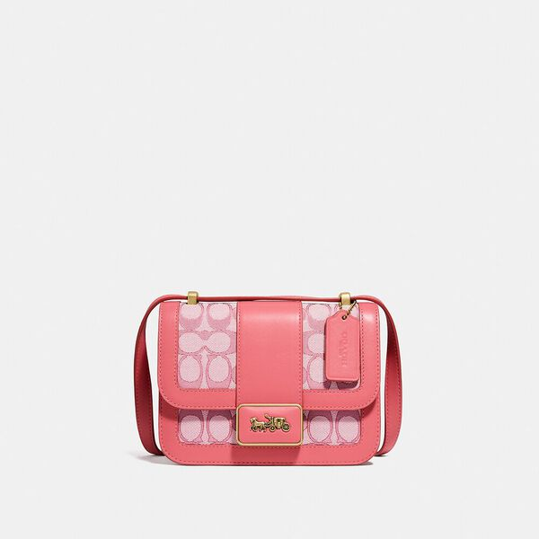 Alie Shoulder Bag 18 In Signature Jacquard