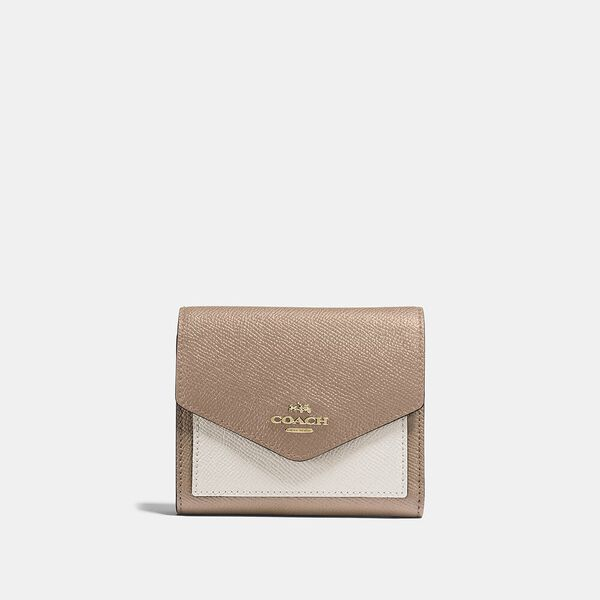 Small Wallet In Colorblock, B4/TAUPE MULTI, hi-res