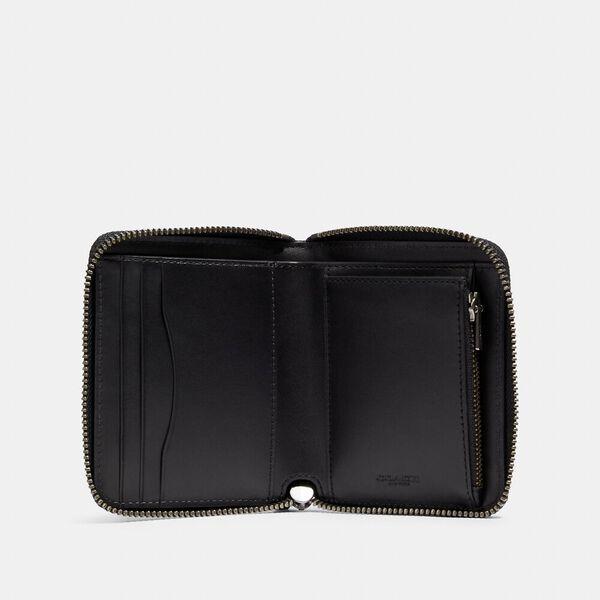 Medium Zip Around Wallet In Signature Canvas, QB/DENIM, hi-res