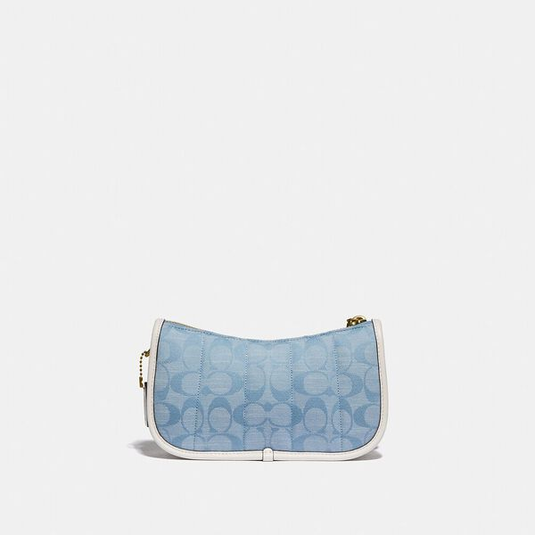 Swinger 20 In Signature Chambray With Quilting, B4/LIGHT WASHED DENIM CHALK, hi-res
