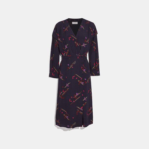 Crepe Draped Midi Dress