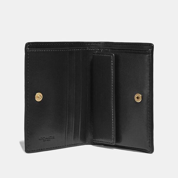 Small Snap Wallet, GD/BLACK, hi-res