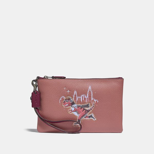 Small Wristlet With Rexy, V5/VINTAGE PINK, hi-res
