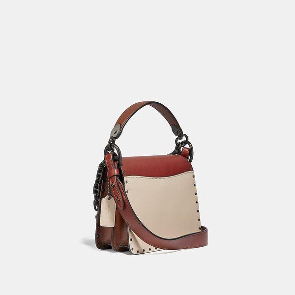 Beat Shoulder Bag 18 In Colorblock With Rivets, V5/RED SAND IVORY MULTI, hi-res