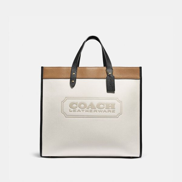 Field Tote 40 In Colorblock With Coach Badge