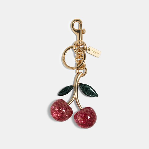 Signature Cherry Bag Charm, IM/PINK MULTI, hi-res
