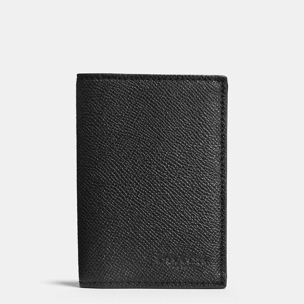 Bifold Card Case, BLACK, hi-res