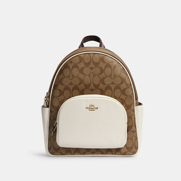 Court Backpack In Signature Canvas, IM/KHAKI/CHALK, hi-res