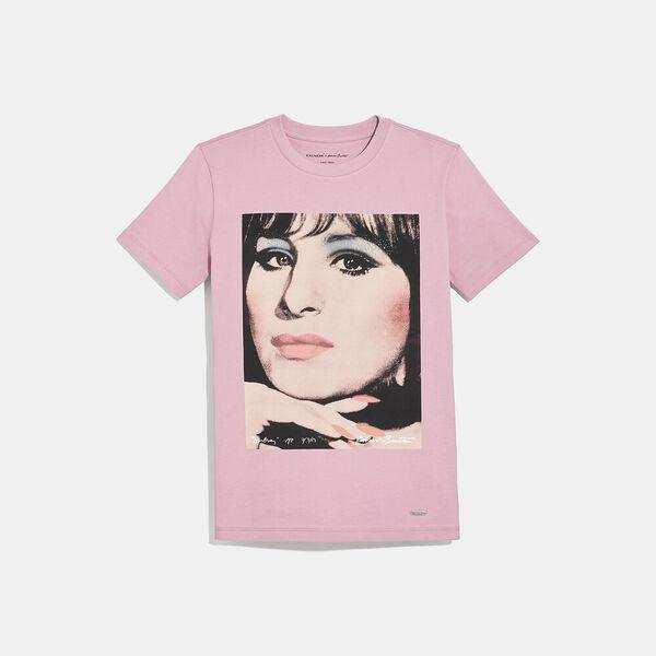 Coach X Richard Bernstein T-Shirt With Barbra Streisand, BABY PINK, hi-res