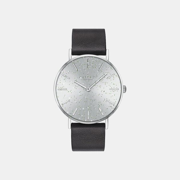 Perry Black Leather Strap Watch