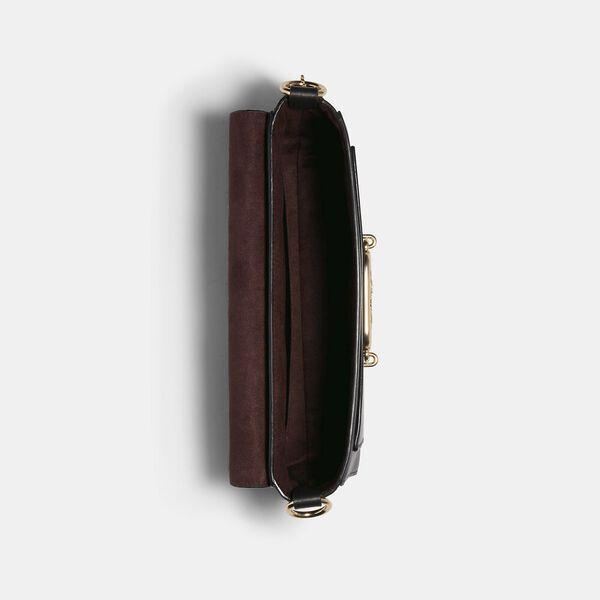 Jade Shoulder Bag With Linear Quilting, IM/BLACK, hi-res