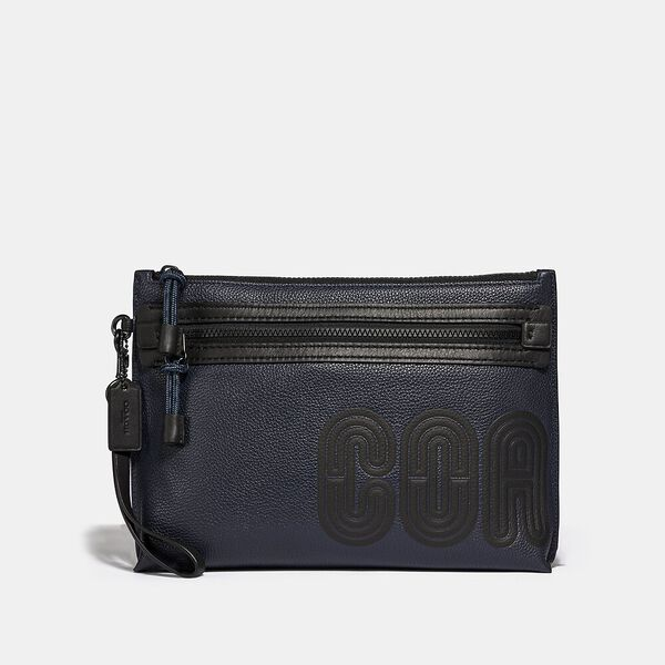 Academy Pouch With Coach Print, MIDNIGHT/BLACK, hi-res