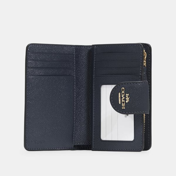 Medium Corner Zip Wallet, IM/MIDNIGHT, hi-res