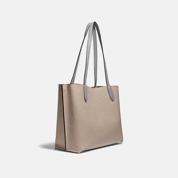 Willow Tote In Colorblock, V5/TAUPE MULTI, hi-res