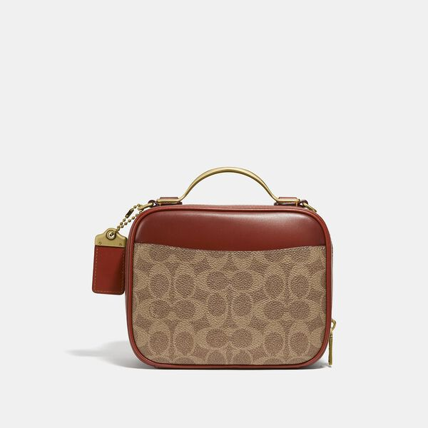 Riley Lunchbox Bag In Signature Canvas, B4/TAN RUST, hi-res