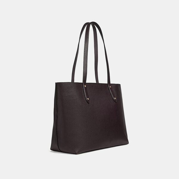 Central Tote With Zip, GD/OXBLOOD, hi-res