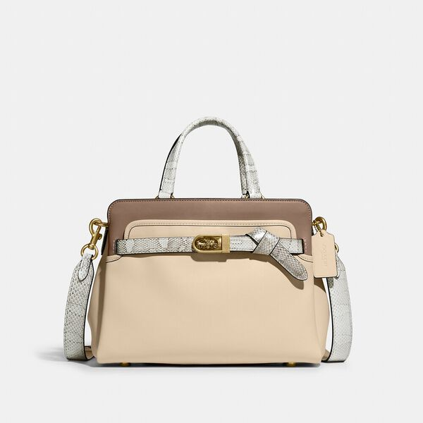 Tate Carryall 29 In Colorblock With Snakeskin Detail