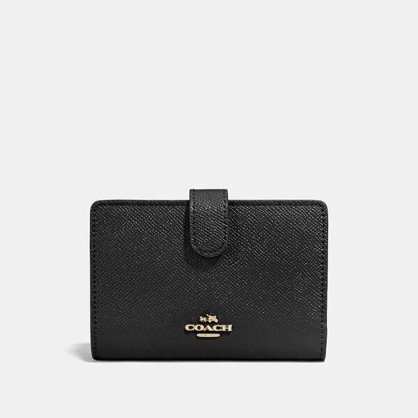 Medium Corner Zip Wallet, LI/BLACK, hi-res