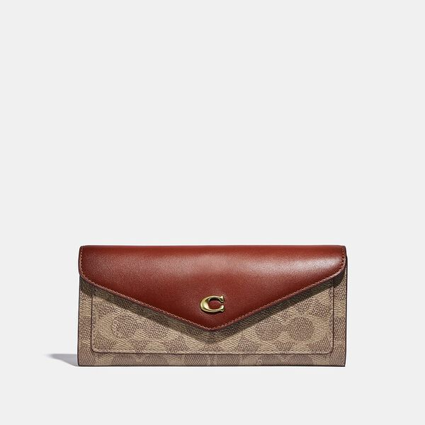 Wyn Soft Wallet In Colorblock Signature Canvas
