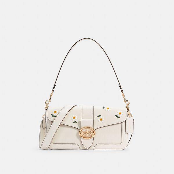 Georgie Shoulder Bag With Daisy Embroidery