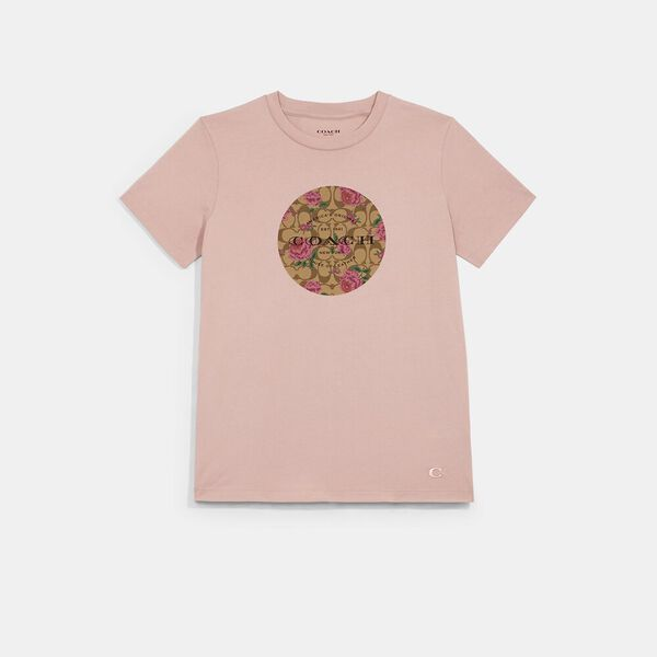 Signature Floral T-Shirt, LIGHT ROSE, hi-res