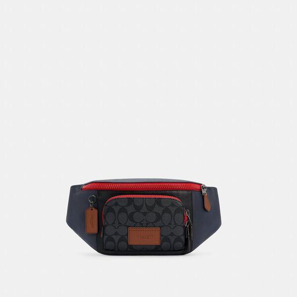 Track Belt Bag In Colorblock Signature Canvas