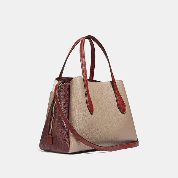 Lora Carryall 30 In Colorblock, B4/TAUPE RED SAND MULTI, hi-res