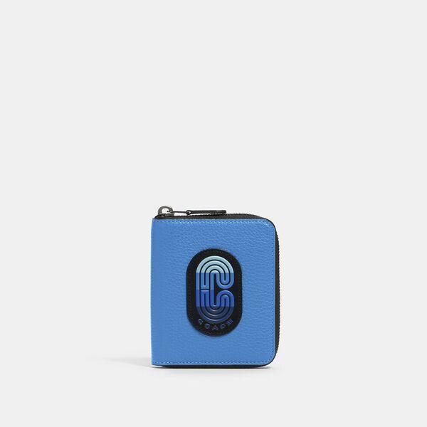 Medium Zip Around Wallet In Colorblock With Coach Patch
