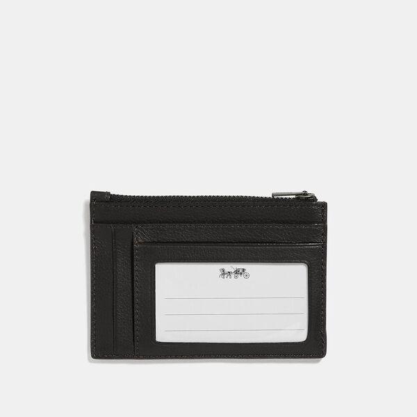 Multiway Zip Card Case, QB/BLACK, hi-res