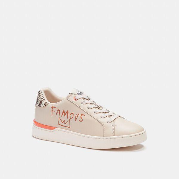 Coach X Jean-Michel Basquiat Clip Low Top Sneaker, IVORY/ SNAKE, hi-res