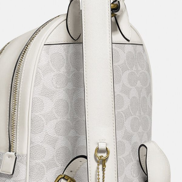 Carrie Backpack 23 In Signature Canvas, B4/CHALK CHALK, hi-res