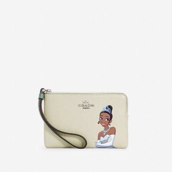 Disney x Coach Corner Zip Wristlet With Tiana