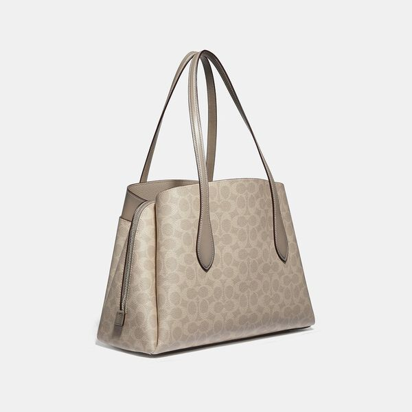 Lora Carryall In Signature Canvas, LH/SAND TAUPE, hi-res
