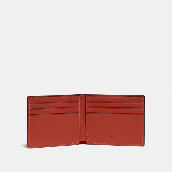 Slim Billfold Wallet In Colorblock, OXBLOOD/RED SAND, hi-res