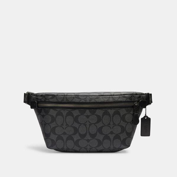 Grade Belt Bag In Signature Canvas, QB/CHARCOAL/BLACK, hi-res