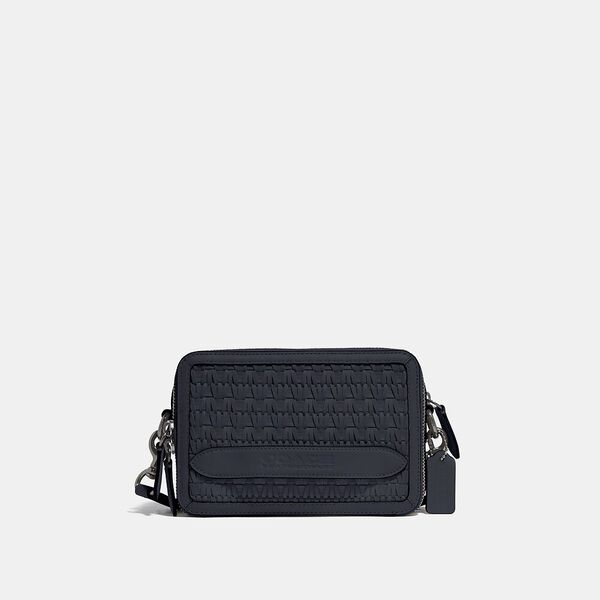 Charter Crossbody With Weaving, MIDNIGHT NAVY, hi-res
