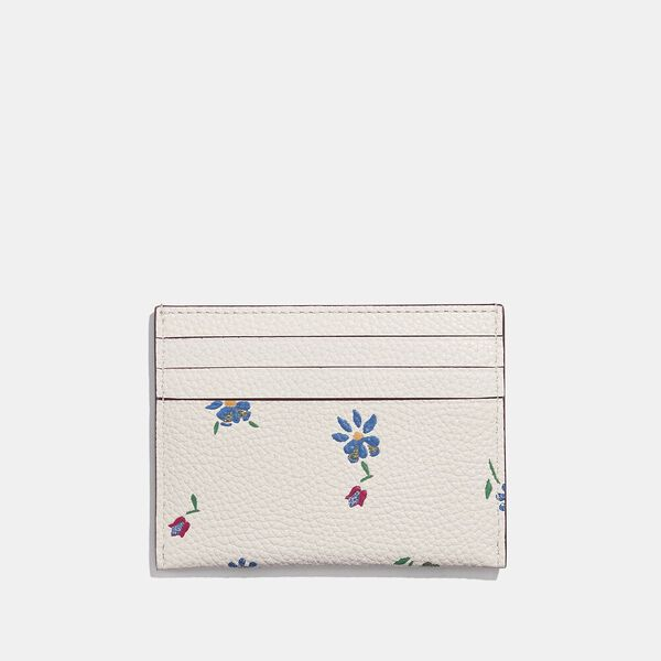 Card Case With Wildflower Print, V5/CHALK, hi-res