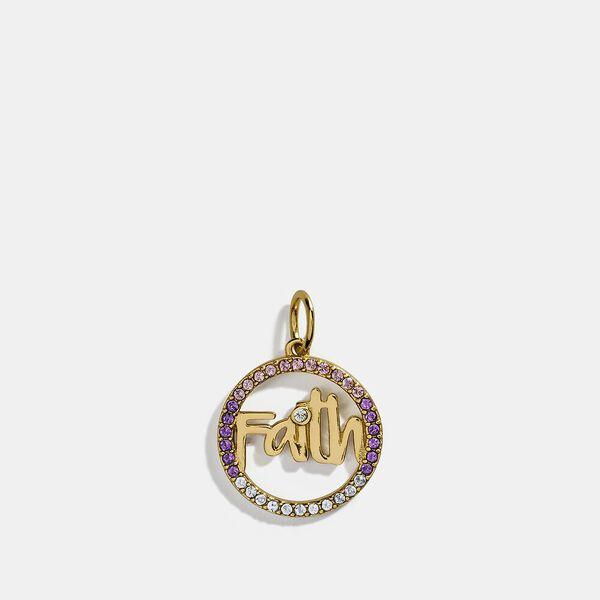 Collectible Faith Charm, GOLD, hi-res