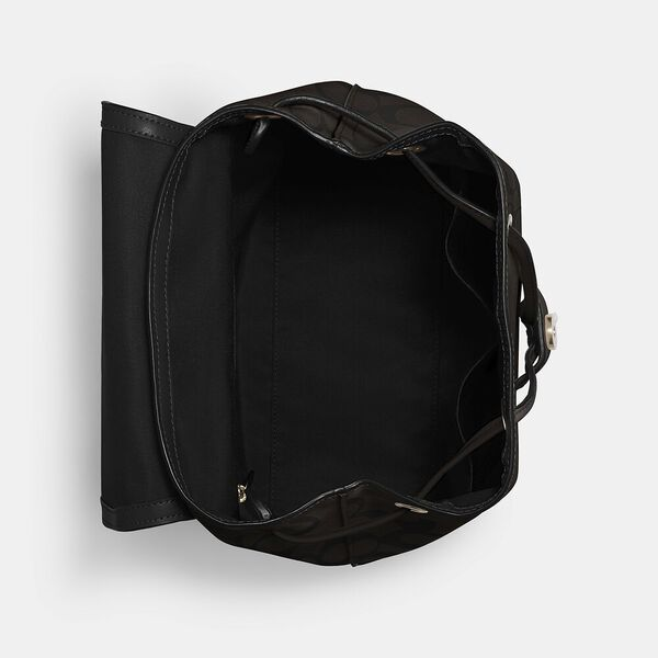 Elle Backpack In Signature Canvas, IM/BROWN/BLACK, hi-res