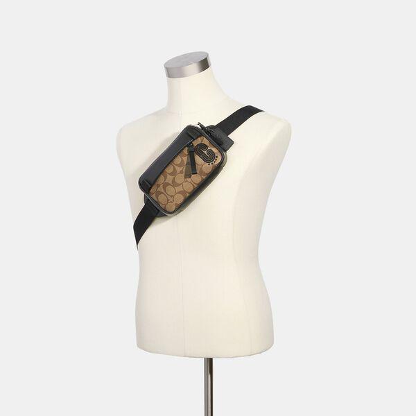 Mini Edge Belt Bag In Signature Canvas, QB/TAN, hi-res