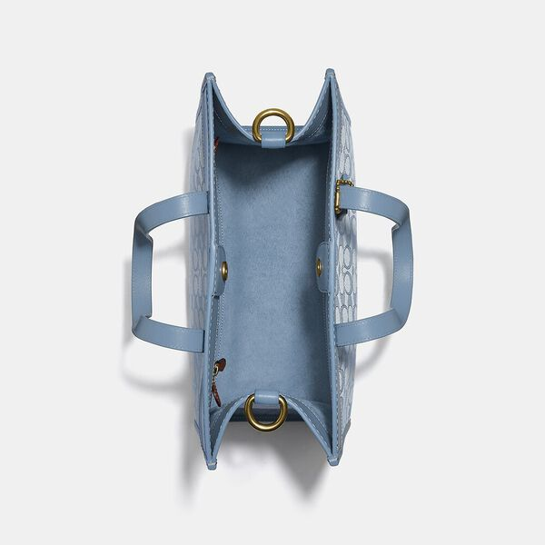 Field Tote 30 In Signature Jacquard, B4/MARBLE BLUE AZURE, hi-res