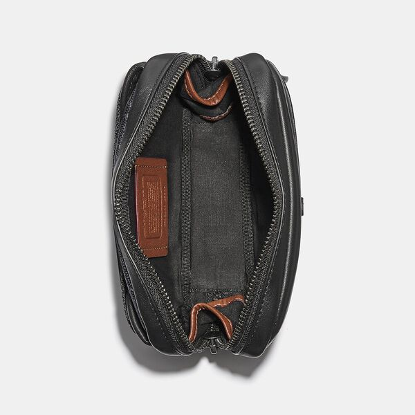 Charter Mini Sling In Signature Canvas, CHARCOAL, hi-res