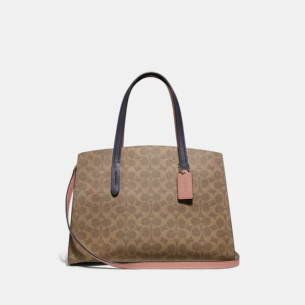 Charlie Carryall In Colorblock Signature Canvas