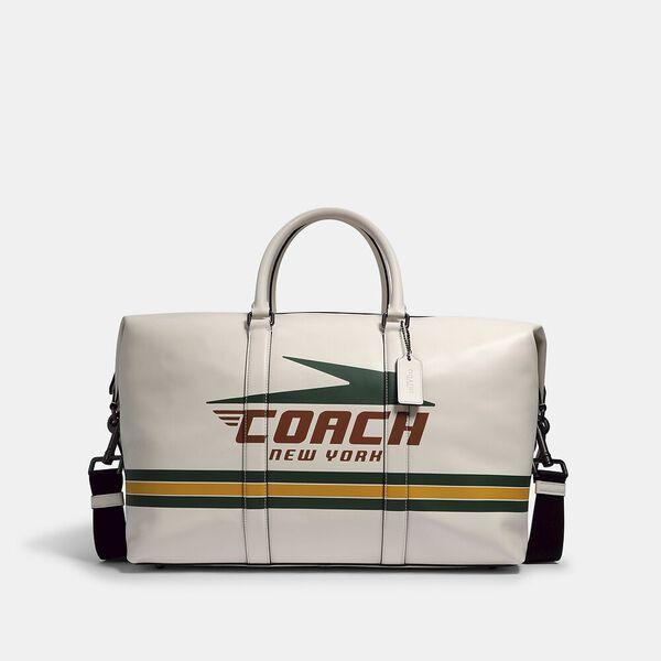 Trekker Bag With Vintage Coach Motif, QB/CHALK MULTI, hi-res